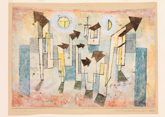 Klee, Paul: Mural from the Temple of Longing ↖Thither↗. Fine Art Print/Poster (5028)